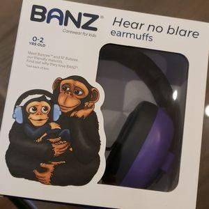 Baby banz earmuffs NWT purple 0-2